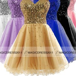 Wholesale High Quality Prom Party Dresses CUSTOM MADE Backless A Line Sweetheart Beaded Short Mini Cocktail Formal Gowns Cheap for sale IN STOCK