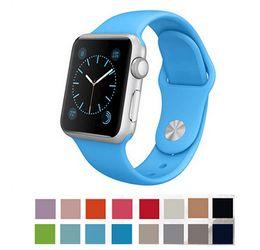 Новый ремешок для Apple, ремешок Сплит Силиконовые запястье ремешок для часов яблоко 38мм 42мм с разъем адаптера