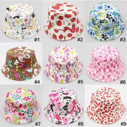 Wholesale Hot Casual Canvas Hats Child Sun Hat Bucket Hat Children Beanie Hat Caps Baby Sunbonnet Kids Topee Boys And Girls Cute Printed Basin Cap