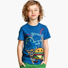 Wholesale Brand New Boys T shirt Cotton T shirt Cute Print Fashion Kid Clothes Baby Boy Tee Shirt For M Y Children