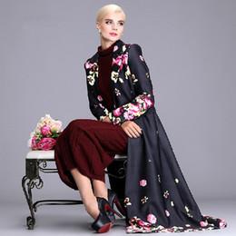 Discount Plus Size Women Maxi Coats | 2017 Plus Size Women Maxi