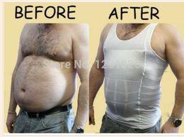Wholesale New Men s Slim Moisture Minus the Beer Belly Shaping Underwear Abdomen Body Sculpting Vest Shapers Body Sculpting T shirt Body Shaper