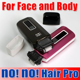 Wholesale No No hair pro5 epilator No No hair Pro3 epilator Hair Removal System with levels of temperature three colors dhl free