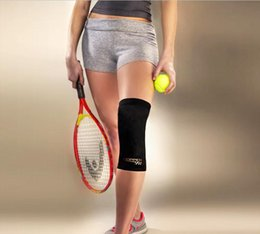 Wholesale 2015 Hot Copper Fit Infused Knee Compression Sleeve Copper Comfort Compression Brace Kneepad Elbow DHL Free