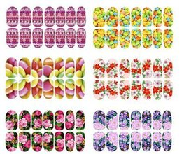 Wholesale Nail foils Noctilucent Full flower set decals all posted nail supplies nails art nail tips