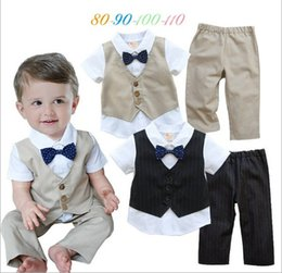 Wholesale Summer Toddler Baby Clothing Set New Arrival Gentleman T Shirt Pants Small Child Boy Casual Suits Fitl Age Kids Wear TR76