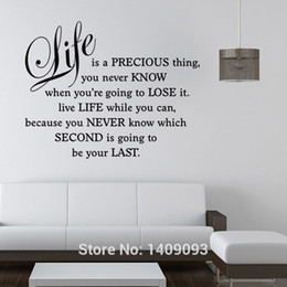 Wall Stickers Quotes And Sayings Life Is A Precious Thing Bedroom Living Room Decorative Wall Decals Vinyl Sticker Home Decor