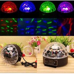 Stocks américains! Mini DMX512 Digital RGB LED Effets Éclairage Éclairage Party Disco DJ LED Boule de Cristal Light Lights pour Bar KTV