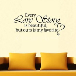 every love story diy lettering words wall art decal vinyl wall sticker mural home decor inspiration order