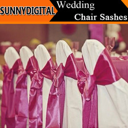 Wholesale 2015 Hot Colorful M M Wedding Chair Sashes Bowknot Ribbon wedding Decorations Fashion Streamer For Party chair Decor