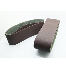 "Free shipping 5PC Abrasive Wood Sanding Belt 75x533mm ( 3""x21"" ) Aluminium Oxide Grit 60 For Belt Sander Power Tools Accessories"