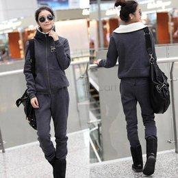 Wholesale New ladies Sport Suit Warm Zip Up Casual Sweatshirt And Pants Tracksuit For Women Colors SV11 SV010525