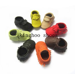Wholesale kinghooshoes cow leather high quality baby moccasins