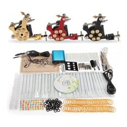 Wholesale Factory Complete Tattoo Kit Pro Rotary Machine Guns Inks Power Supply Needle Grips