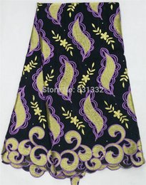 Wholesale 2015 african big swiss voile lace high quality cotton lace fabric material for dresses AMY2190