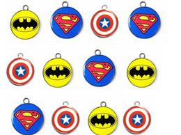 Envío libre 20 X circulares de Batman del superhombre Capitán América mixta logo superhéroes fabricación de los colgantes de los encantos del metal DIY Joyería