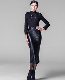 Discount Long Leather Pencil Skirts | 2017 Long Leather Pencil ...
