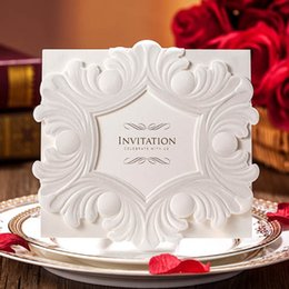 Wholesale Vintage Embossed Wedding Invitation Garden Theme Ceremony Card Inner Paper Personalized
