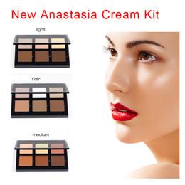 Wholesale 2016 New Arrival Anastasia Cream Contour Kit Light Medium Fair Makeup Face Powder Foundation Concealer colors Beverly Hills