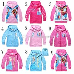Wholesale 2015 Frozen Baby Girls Yrs Elsa Anna Princess Hoodie Long Sleeve Terry Hooded Jumper Cartoon Hoodies Outerwear Kids Clothing