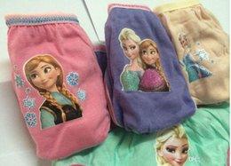 Wholesale 12pcs Frozen New Children Panties Hot Sell Frozen Underwear Frozen Briefs styles Bag Sizes For Y