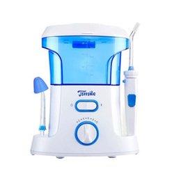 Nuevo Tsmile 600ML Hogar Irrigador Oral Dental Gum Limpieza Jet de Agua Flosser Eléctrico 100-240V AC UE EE.UU. Plug Water Flosser Mejor