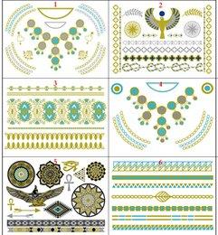 Wholesale New design Waterproof Jewelry Temporary Metallic Flash Tattoos