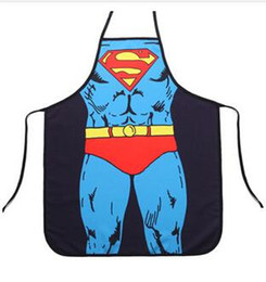 Wholesale 30pcs fashion super man batman spiderman flash green giant apron creative whimsy novelty couples party gifts CM