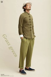 Wholesale Traditional Chinese clothes Tang suit men women colors Cotton Material