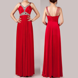 Wholesale 2015 New red and purple mother off bride dresses elegant chiffon sequins Long Ball Prom Gown Formal bridesmaid Dress party evening dresses