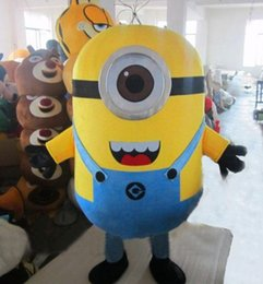 Wholesale Despicable me minion mascot costume EVA cartoon adult size fancy dress for Christmas party or festival party