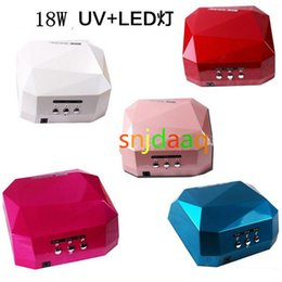 Wholesale HOT Brand Color W W UV LED Gel Nail Lamp Gel Curing Tube Light Nail Art Polish Dryer Machine V V