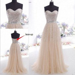 Wholesale Charming Champagne Sexy Long sequins Formal Chiffon Bridesmaid Formal Gown Ball Party Cocktail Evening Prom Dresses for women