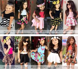 Wholesale Dressed infantis Baby Girls Clothing Sets For Summer Girl s Skirt Set Children Clothe Kids clothes girls dressed de menina
