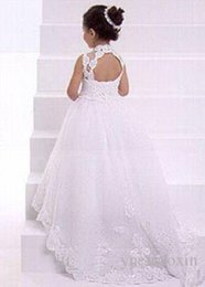 Cheap Flower Girl Dresses Train Embroidery  Free Shipping Flower ...