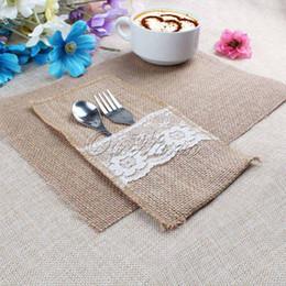 table linen wholesale 50pcs burlap table mats place mat jute coaster for kitchen dining room - Discount Table Linens