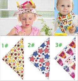 Wholesale Cartoon Magic Baby Skull Cap Bandana Shawl Scarf Bibs cm Feeding Bibs Burp Cotton Toddlers Infant Mix Colors BBE