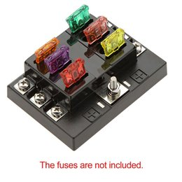 discount blade fuse block blade fuse holder block on universal 6 way circuit car fuse box holder 32v dc waterproof blade fuse holder block for auto car boat high quality terminal
