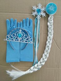 Wholesale 2014 Movie Cosplay Fantasia Festa Frozen Party Women And Girl Princess Elsa And Anna Frozen Glove length cm FX