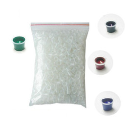 Wholesale 2014 New Arrival Hot Sales Disposable Small Ink Pigment Caps Plastic Cups Holders Tattoo Supplies Freeshipping