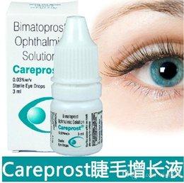 Wholesale Bimatoprost Ophthalmic Solution Eye Care SEALED Authentic CAREPROST EYELASH GROWTH SERUM LIQUID Eyelashes Eyebrow Grower Long Eyelash
