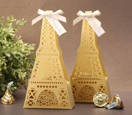 Wholesale 2015 latest fashion Wedding candy box Laser engraving Eiffel Tower Party candy box TH18CB2017