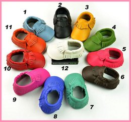 Wholesale 2015 Genuine Leather Baby Moccasins First Walkers Baby Shoes Newborn Baby Girl Boy Shoes Tenis Infantil tassels soft leather