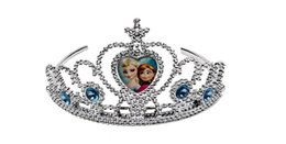 Wholesale 2014 new frozen anna elsa tiara dress Elsa Anna princess crowns hearts tiara baby party hair accessories pageant hairbands gift