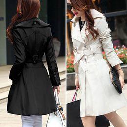 Wholesale Fashion Women s Clothing Elegant Autumn Coat Trench Coats Outerwear Coat For Big Girl s Coat With Belt