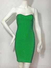 Wholesale New Green fashion short party dress sexy strapless women dress bandage dress