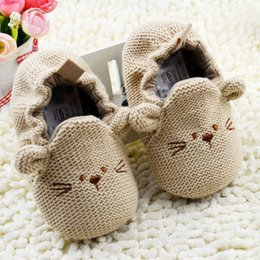 Wholesale hot sell M Infant Toddler Baby Newborn Boy Girl Knitted Crib Shoes Cartoon Elastic First Walkers