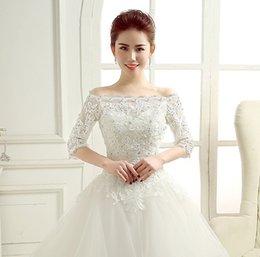 Wholesale New style Hot Sale Bridal Wedding Dress Prom Gown Lace Jacket Bolero Shrug Elegant Wedding Jacket Bridal Wraps