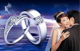Wholesale Promise Rings For Couples Sterling Silver Wedding Bands Couple Rings Diamond Engagement Rings ML