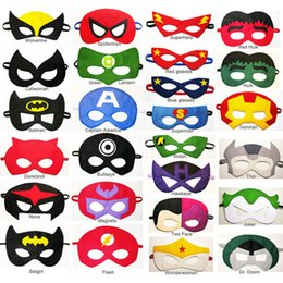 Wholesale In Stock Mask For Children Cosplay Eye Mask Party Mask Masquerade Masks Performance Mask Superman Mask Eye Shade For Superman Cape